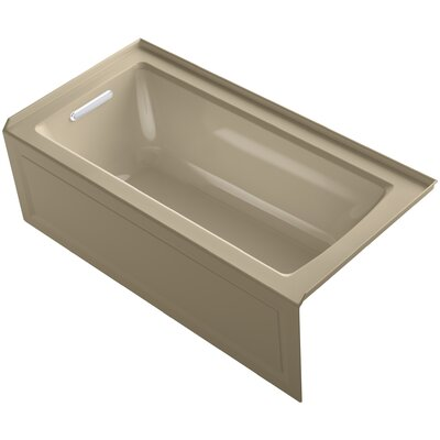 Archer Alcove Bath with Bask� Heated Surface, Integral Apron, Tile Flange and Left-Hand Drain Finish: Mexican Sand