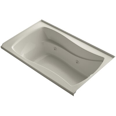 Mariposa Alcove 60 x 36 Whirpool Bathtub Finish: Sandbar, Adjustable Jets: No