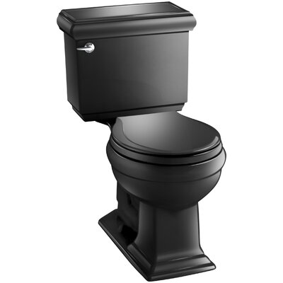 Memoirs Classic Comfort Height Two-Piece Round-Front 1.28 GPF Toilet with Aquapiston Flush Technology and Left-Hand Trip Lever Finish: Black Black