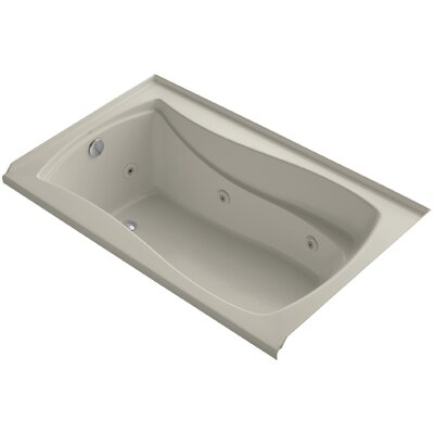 Mariposa Alcove 60 x 36 Whirpool Bathtub Finish: Sandbar