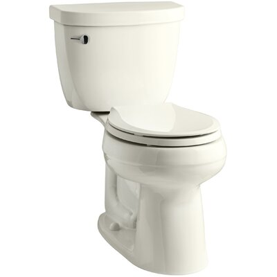 Cimarron Comfort Height Two-Piece Round-Front 1.28 GPF Toilet with Aquapiston Flush Technology Finish: Biscuit