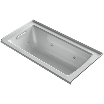 Archer 60 x 30 Alcove Whirlpool with Integral Flange Finish: Ice Grey, Drain Location: Left