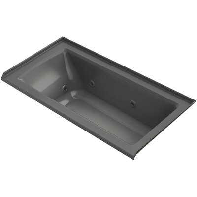 Archer 60 x 30 Whirlpool Finish: Thunder Grey, Drain Location: Right