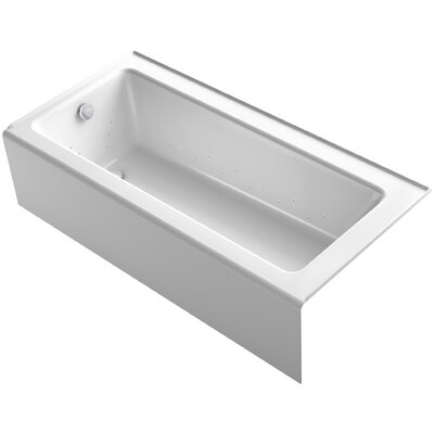 Bellwether 66 x 32 Alcove BubbleMassage Air Bathtub with Left Hand Drain Finish: White