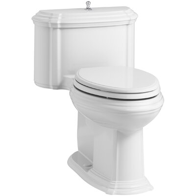 Portrait Comfort Height One-Piece Compact Elongated 1.28 GPF Toilet with Aquapiston Flush Technology, Lift Knob Actuator and Glenbury Quiet-Close Seat with Quick Release Functionality Finish: White