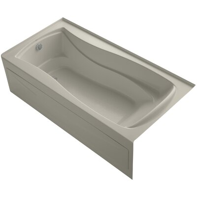 Mariposa Alcove 72 x 36 Soaking Bathtub Finish: Sandbar, Drain Location: Left