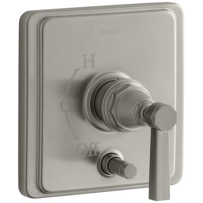 Pinstripe Rite-Temp Pressure-Balancing Shower Faucet with Diverter and Grooved Lever Handle Finish: Vibrant Brushed Nickel