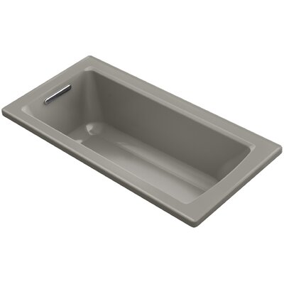 Archer Drop-In Bath with Bask Heated Surface and Reversible Drain Finish: Cashmere