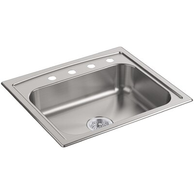 Toccata 25 x 22 x 6 Top-Mount Single-Bowl Kitchen Sink