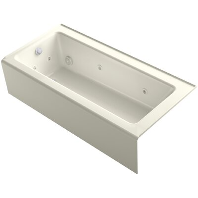 Bellwether 66 x 32 Alcove Whirlpool Finish: Biscuit