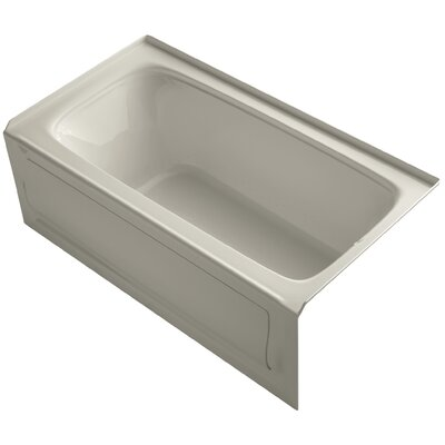 Bancroft 60 x 32 Alcove BubbleMassage Air Bathtub Finish: Sandbar, Drain Location: Right