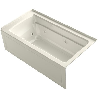 Archer 60 x 32 Air / Whirlpool Bathtub Finish: Biscuit, Drain Location: Right