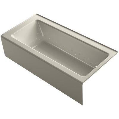 Bellwether 66 x 32 Alcove BubbleMassage Air Bathtub with Right-Hand Drain and Heater Finish: Sandbar