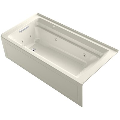 Archer 72 x 36 Air / Whirlpool Bathtub Finish: Biscuit, Drain Location: Left