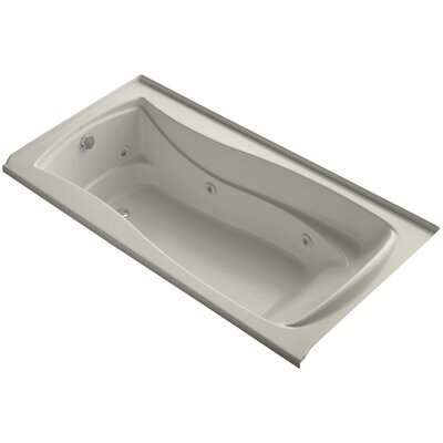 Mariposa Alcove 72 x 36 Whirpool Bathtub Finish: Sandbar, Drain Location: Left