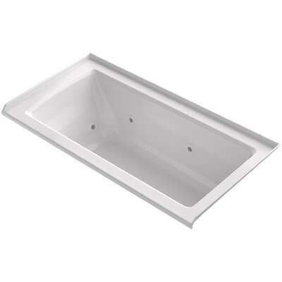Archer 60 x 30 Whirlpool Finish: White, Drain Location: Right