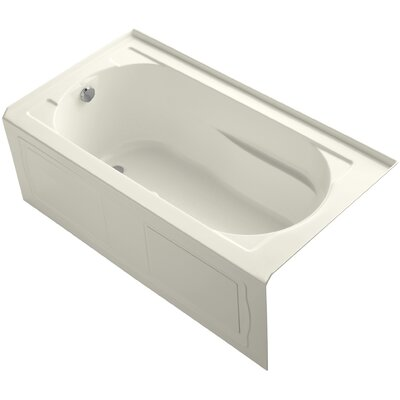 Devonshire Alcove Bubblemassage 60 x 32 Soaking Bathtub Finish: Biscuit, Drain Location: Left