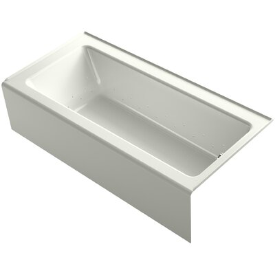 Bellwether 66 x 32 Alcove BubbleMassage Air Bathtub with Right-Hand Drain and Heater Finish: Dune