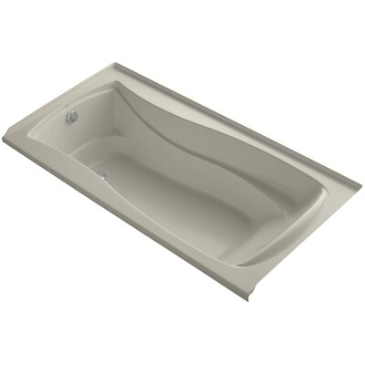Mariposa 72 x 36 Soaking Bathtub Finish: Sandbar, Drain Location: Left