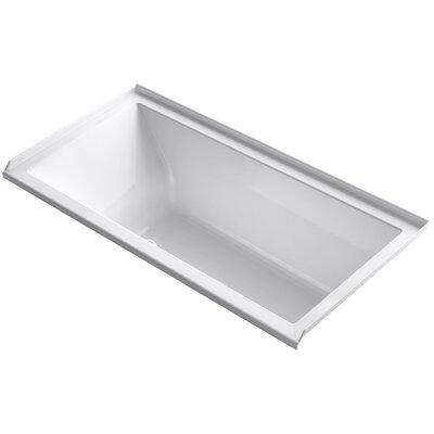 Underscore 60 x 30 Air Bathtub Finish: White, Drain Location: Right