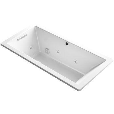 Underscore 66 x 32 Air / Whirlpool Bathtub Finish: White
