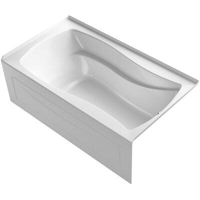 Mariposa Alcove Bubblemassage 66 x 36 Soaking Bathtub Finish: White, Drain Location: Right