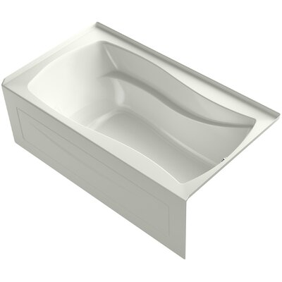 Mariposa Alcove Bubblemassage 66 x 36 Soaking Bathtub Finish: Dune, Drain Location: Right