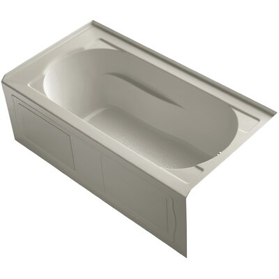 Devonshire Alcove Vibracoustic 60 x 32 Soaking Bathtub Finish: Sandbar, Drain Location: Right