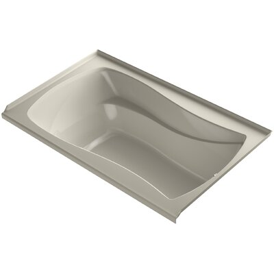 Mariposa Bubblemassage 60 x 36 Soaking Bathtub Finish: Sandbar, Drain Location: Right
