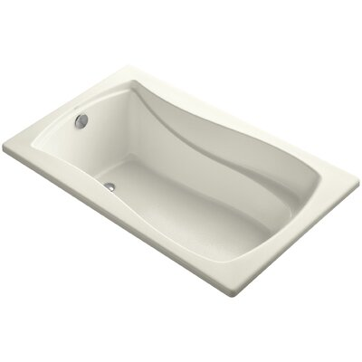 Mariposa Vibracoustic 60 x 36 Soaking Bathtub Finish: Biscuit