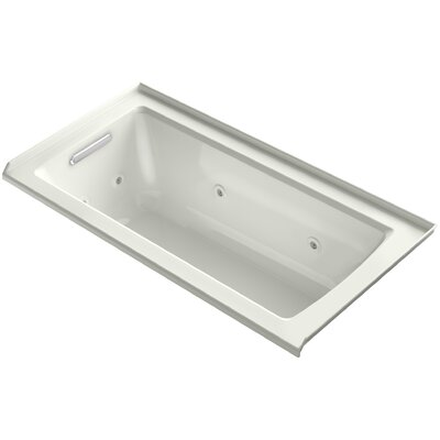 Archer 60 x 30 Alcove Whirlpool with Integral Flange Finish: Dune, Drain Location: Left