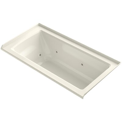 Archer 60 x 30 Whirlpool Finish: Biscuit, Drain Location: Right