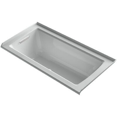 Archer 60 x 30 Air Bathtub Finish: Black Black, Drain Location: Right