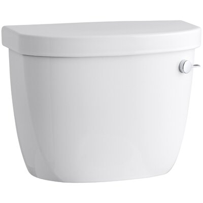 Cimarron 1.28 GPF Tank with Insuliner Tank Liner and Right Hand Trip Lever Finish: White