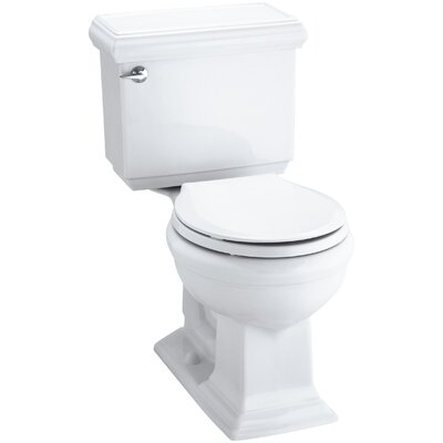 Memoirs Impressions Classic Comfort Height Two-Piece Round-Front 1.28 GPF Toilet with Aquapiston Flush Technology and Left-Hand Trip Lever Finish: White