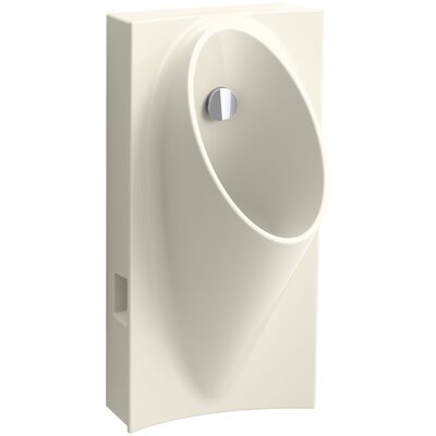 Steward Hybrid High-Efficiency Urinal with 1/2 Flexible Rear Supply Hose Finish: Almond