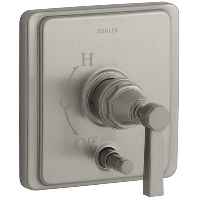 Pinstripe Rite-Temp Pressure-Balancing Shower Faucet with Diverter and Plain Lever Handle Finish: Vibrant Brushed Nickel