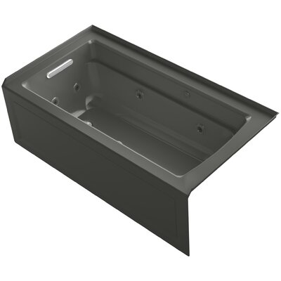 Archer 60 x 32 Air / Whirlpool Bathtub Finish: Thunder Grey, Drain Location: Left