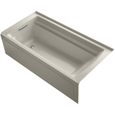 Archer 72 x 36 Soaking Bathtub Finish: Sandbar, Drain Location: Left