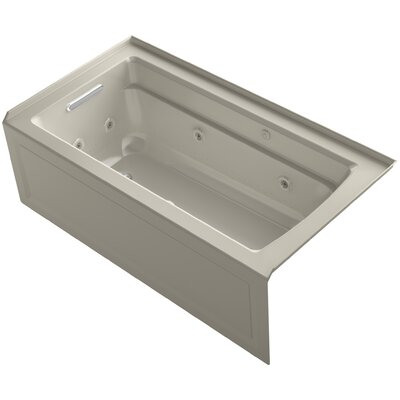 Archer 60 x 32 Air / Whirlpool Bathtub Finish: Sandbar, Drain Location: Left