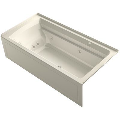 Archer 72 x 36 Air / Whirlpool Bathtub Finish: Almond, Drain Location: Right