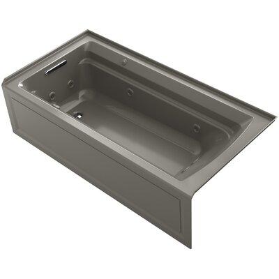 Archer 72 x 36 Air / Whirlpool Bathtub Finish: Cashmere, Drain Location: Left
