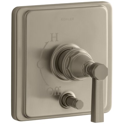Pinstripe Rite-Temp Pressure-Balancing Shower Faucet with Diverter and Grooved Lever Handle Finish: Vibrant Brushed Bronze