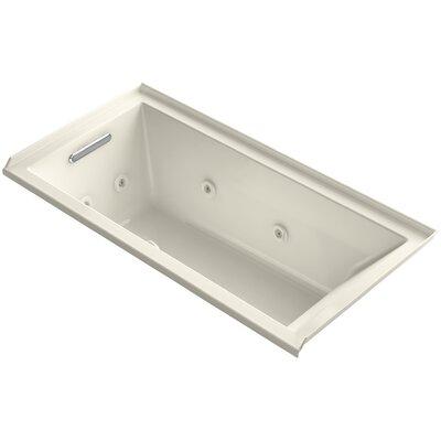 Underscore 60 x 30 Whirlpool Bathtub Finish: Almond, Drain Location: Left