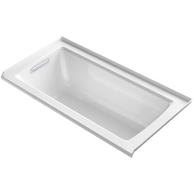 Archer Alcove Bath with Bask� Heated Surface, Tile Flange and Left-Hand Drain Finish: White