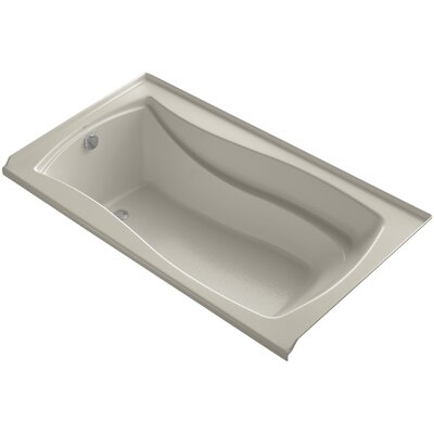 Mariposa 66 x 36 Soaking Bathtub Finish: Sandbar, Drain Location: Left
