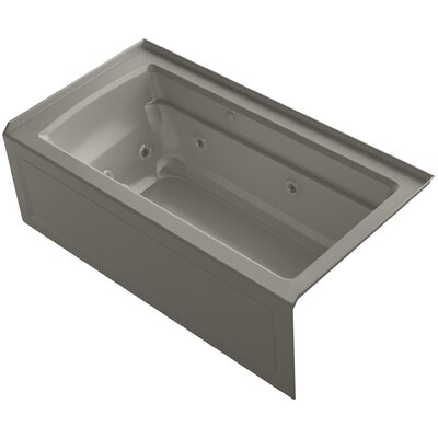 Archer 60 x 32 Air / Whirlpool Bathtub Finish: Cashmere, Drain Location: Right