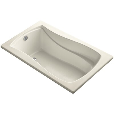Mariposa Vibracoustic 60 x 36 Soaking Bathtub Finish: Almond
