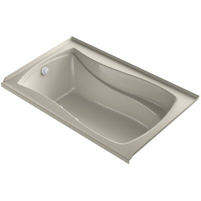 Mariposa Bubblemassage 60 x 36 Soaking Bathtub Finish: Sandbar, Drain Location: Left