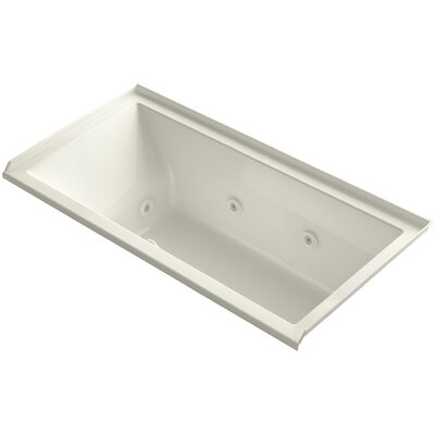 Underscore 60 x 30 Whirlpool Bathtub Finish: Biscuit, Drain Location: Right